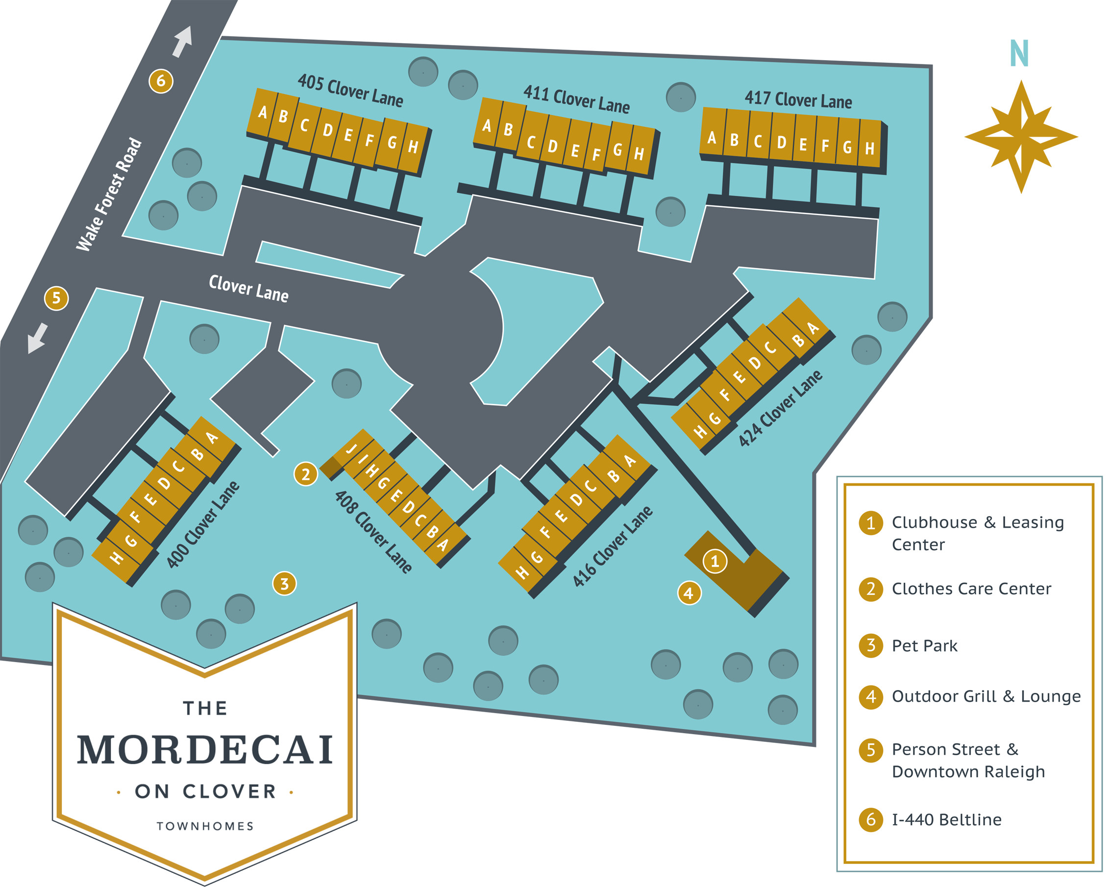 Mordecai on Clover Site Map